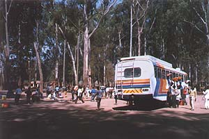 Dedza Bus Station with Stagecoach Bus