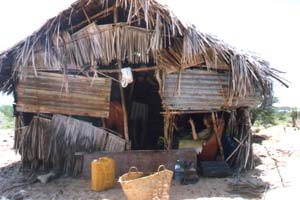 The kitchen on Manda Island